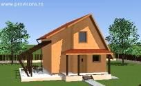Proiecte gratis de case cu mansarda for Proiecte case cu etaj si terasa