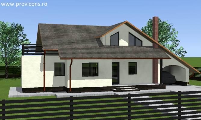 Proiecte case 100 mp cu mansarda gratis for Case de 100 mp
